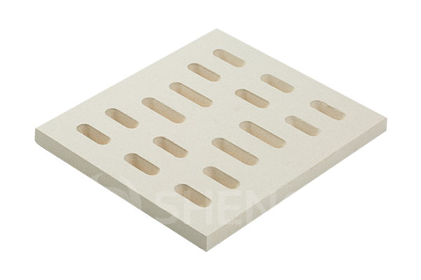 Perforated refractory ceramic oven stone SYAS180120RRPR